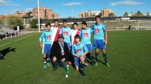 Jugadores del Rayo Vallecano y Rayo Majadahonda
